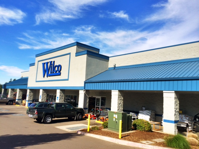 Wilco store in Canby, OR, a commercial metal roofing project for Slate & Slate Roofing