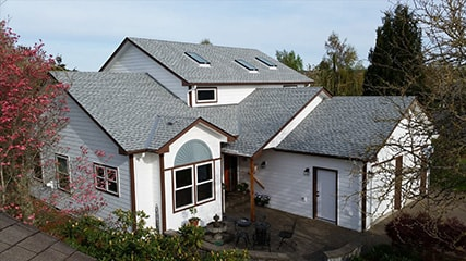 A Salem home with composition shingles, roofed by Slate & Slate Roofing