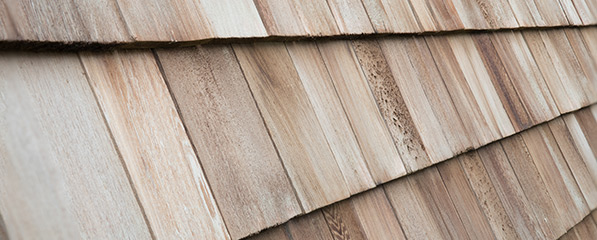 Cedar wood shake roofing materials
