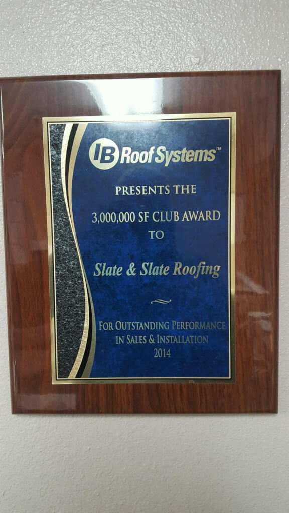 Salem IB Roofing Contractor Award