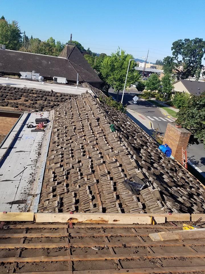 Tile Roof Tear Off in Salem