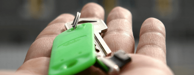 A picture of keys in an open hand