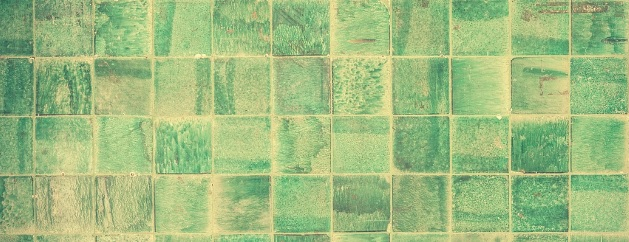 Green, eco-friendly flooring tiles